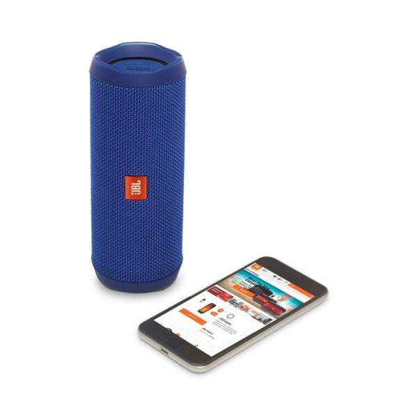 JBL Flip 4 Portable Wireless Speaker with Powerful Bass & Mic (Blue)-5864