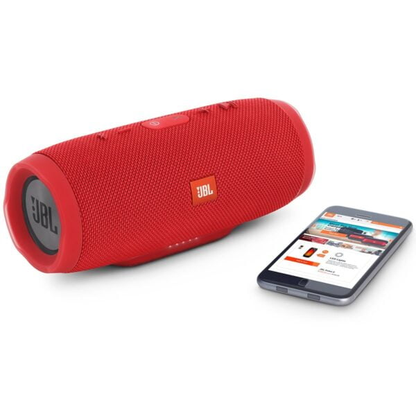 JBL Charge 3 Powerful Portable Speaker with Built-in Powerbank (Red)-5880