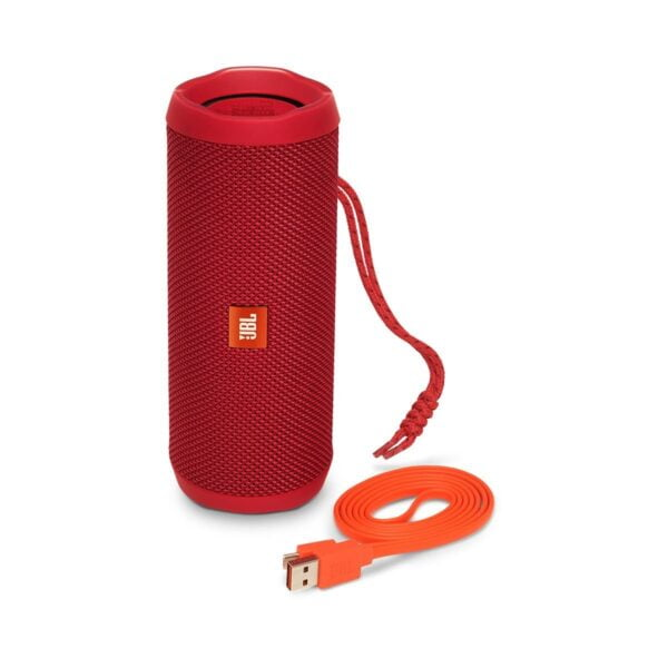 JBL Flip 4 Portable Wireless Speaker with Powerful Bass & Mic (Red)-5852