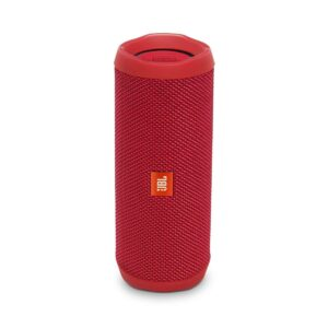 JBL Flip 4 Portable Wireless Speaker with Powerful Bass & Mic (Red)-0