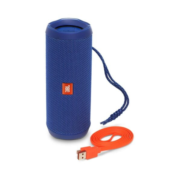JBL Flip 4 Portable Wireless Speaker with Powerful Bass & Mic (Blue)-5863