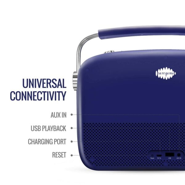 Saregama Carvaan Premium Portable Digital Music Player (Royal Blue)-5847