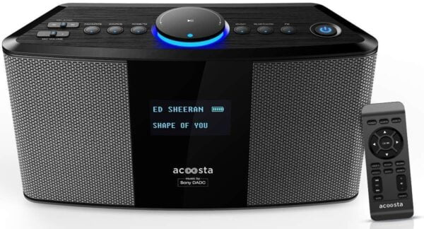 Acoosta Uno ABT-2000PKW/21 High Fidelity Bluetooth Speaker with Built in Music by Sony DADC (Grey)-0