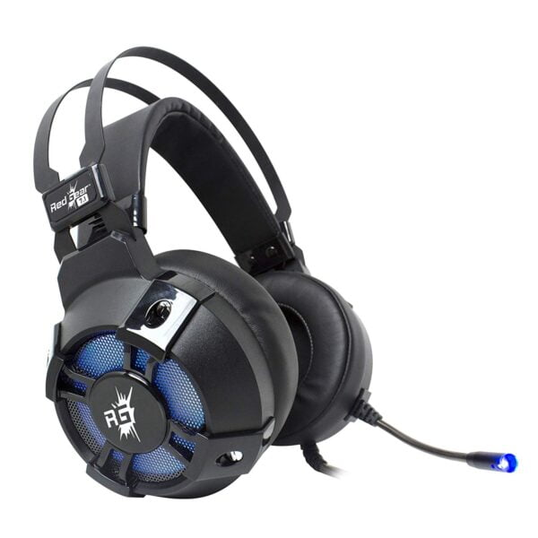 Redgear Cosmo 7.1 Gaming Headphones with RGB LED Effect, Mic and in-line Controller-5949
