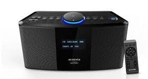 With Mic-Acoosta Uno ABT-2000PKW/21 High Fidelity Bluetooth Speaker with Built in Music by Sony DADC (Black)-0