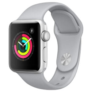 Apple Watch Series 3 (GPS, 38mm) - Silver Aluminium Case with White Sport Band-0