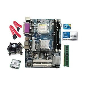 Intel Core 2 Duo E8400 3.0 GHZ + Zebronics G41 DDR3 Motherboard + 2 GB DDR3 RAM-0