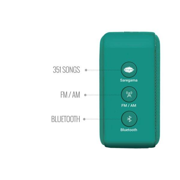 100% Original Saregama Carvaan Mini SCM02 2.0 Bluetooth Speaker (Green)-6136