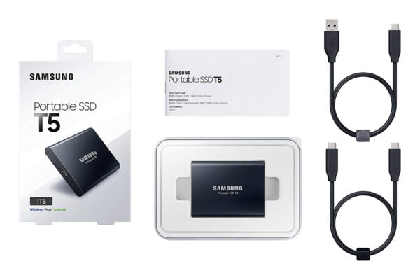 Samsung T5 Portable SSD - 1TB - USB 3.1 External SSD (MU-PA1T0B/AM)-6182