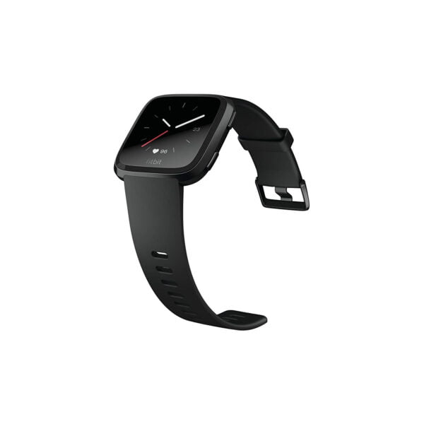 Fitbit Versa Health and Fitness Smartwatch, Onesize (Black) (Unisex)-6060