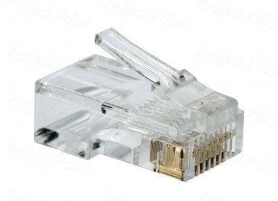D-Link Plastic Cat 5 RJ 45 Cable Connector - Pack Of 100 Pieces (Transparent)-6346