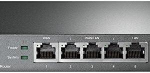 TP-Link TL-R470T+ 5-port Load Balance Broadband Router (Black)-0