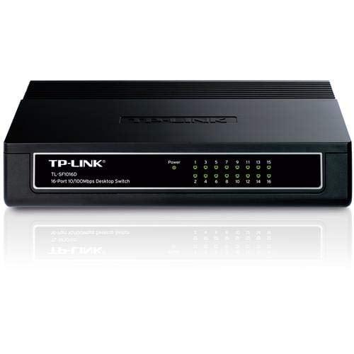 TP-Link TL-SF1016D 16-Port 10/100Mbps Desktop/Rackmount Switch (Black)-0