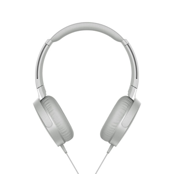 Sony Extra Bass MDR-XB550AP On-Ear Headphones with Mic (White)-6551
