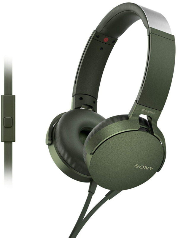 Sony Extra Bass MDR-XB550AP On-Ear Headphones with Mic (Green)-0