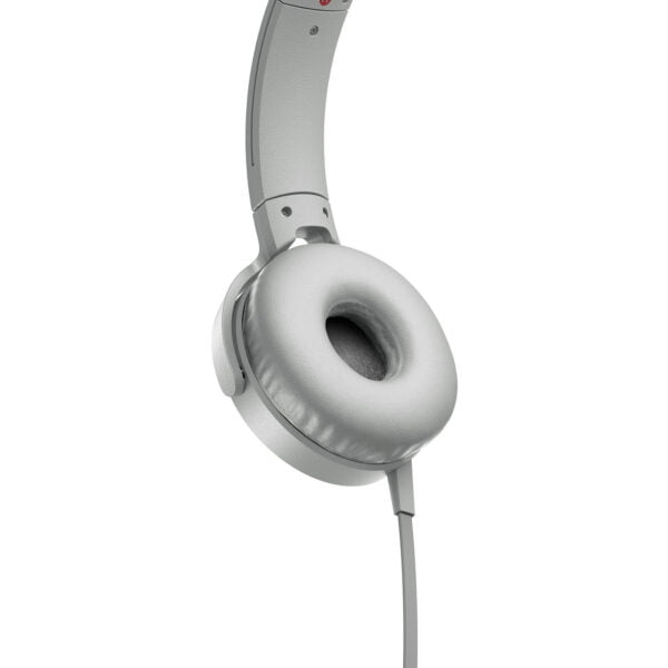 Sony Extra Bass MDR-XB550AP On-Ear Headphones with Mic (White)-6554