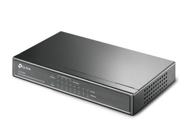 TP-Link TL-SG1008P 8-Port Gigabit Desktop Switch with 4-Port PoE(Black)-6352