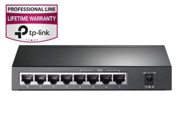 TP-Link TL-SG1008P 8-Port Gigabit Desktop Switch with 4-Port PoE(Black)-6351