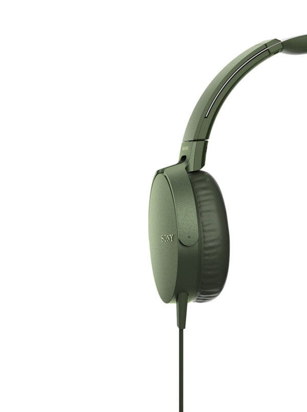 Sony Extra Bass MDR-XB550AP On-Ear Headphones with Mic (Green)-6566
