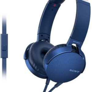 Sony Extra Bass MDR-XB550AP On-Ear Headphones with Mic (Blue)-0