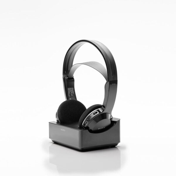 Sony MDR-IF245RK Cordless Rechargeable Lightweight Headphones (Black)-6509