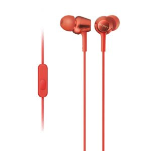 Sony MDR-EX255AP in-Ear Headphones with Mic (Red)-0