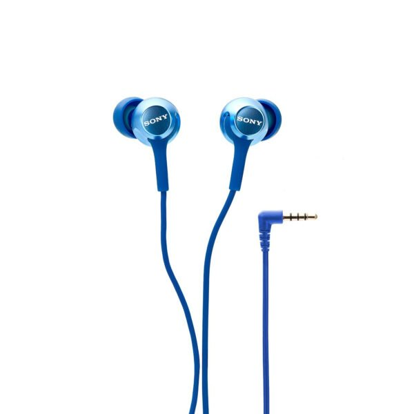 Sony MDR-EX255AP in-Ear Headphones with Mic (Blue)-6720