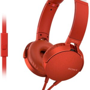 Sony Extra Bass MDR-XB550AP On-Ear Headphones with Mic (Red)-0