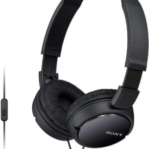 Sony MDR-ZX110AP On-Ear Stereo Headphones with Mic (Black)-0