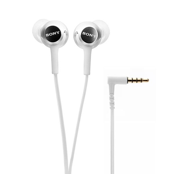 Sony MDR-EX155AP in-Ear Headphones with Mic (White)-0