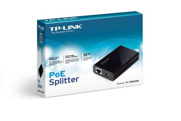 TP-Link TL-POE10R Gigabit PoE Splitter Adapter (Black)-6368
