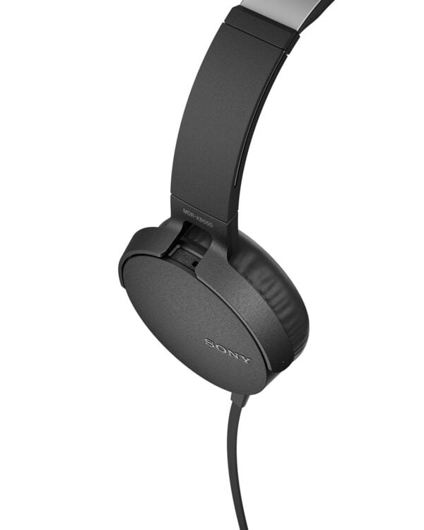Sony Extra Bass MDR-XB550AP On-Ear Headphones with Mic (Black)-6611