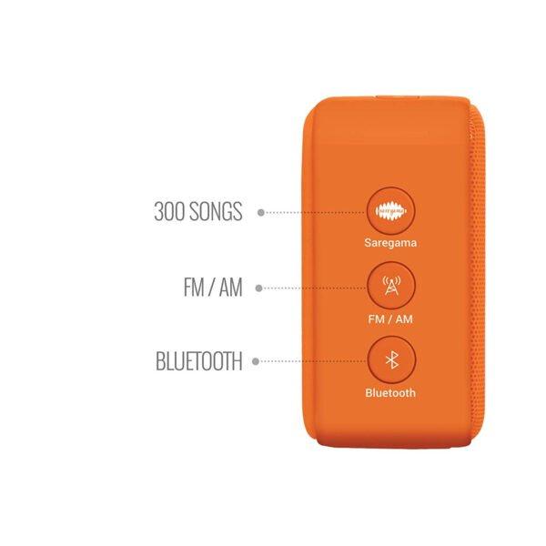 100% Original Saregama Carvaan Mini SCM02 Bhakti Bluetooth Speaker (Orange)-6891