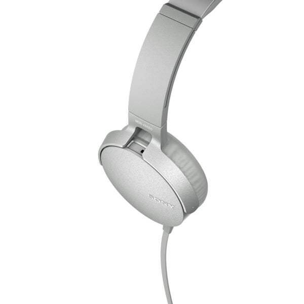 Sony Extra Bass MDR-XB550AP On-Ear Headphones with Mic (White)-6546
