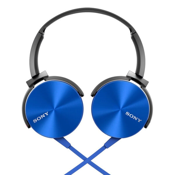 Sony Extra Bass MDR-XB450AP On-Ear Headphones with Mic (Blue)-6673
