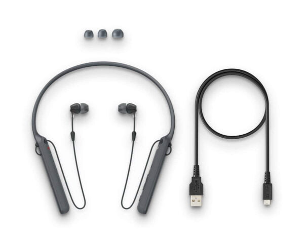 Sony C400 Wireless Behind-Neck in Ear Headphone Black (WIC400/B) (100% New and Original)-6516