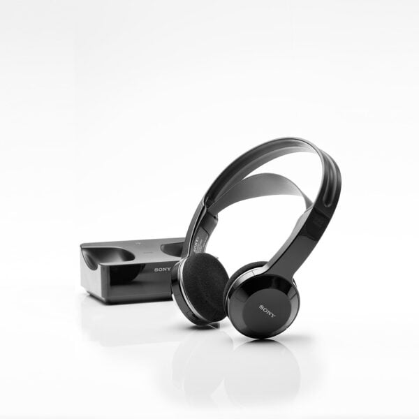 Sony MDR-IF245RK Cordless Rechargeable Lightweight Headphones (Black)-6511