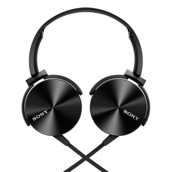Sony Extra Bass MDR-XB450AP On-Ear Headphones with Mic (Black)-6658