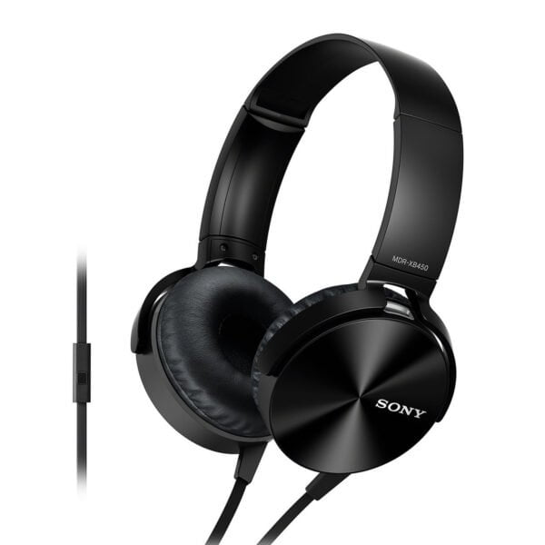 Sony Extra Bass MDR-XB450AP On-Ear Headphones with Mic (Black)-0