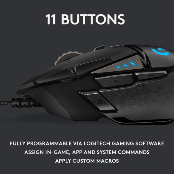 Logitech G502 Hero Gaming Mouse (Black)-6268