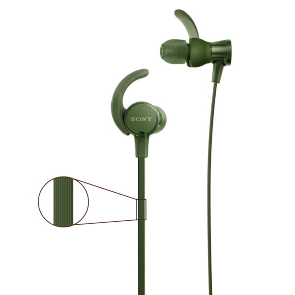 Sony Extra Bass MDR-XB510AS in-Ear Sports Headphones with Mic (Green)-6642