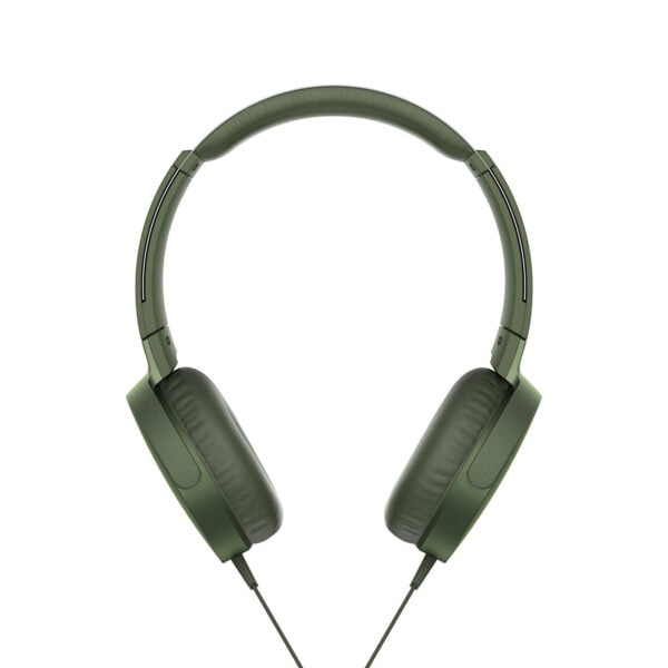 Sony Extra Bass MDR-XB550AP On-Ear Headphones with Mic (Green)-6569