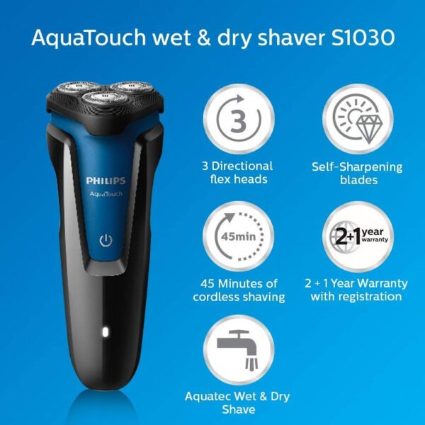 Philips S1030/04 Wet and Dry Electric Shaver (Black)-6851