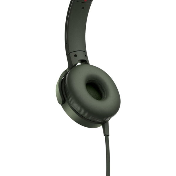 Sony Extra Bass MDR-XB550AP On-Ear Headphones with Mic (Green)-6570