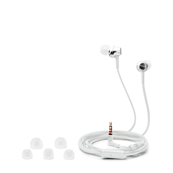 Sony MDR-EX155AP in-Ear Headphones with Mic (White)-6777