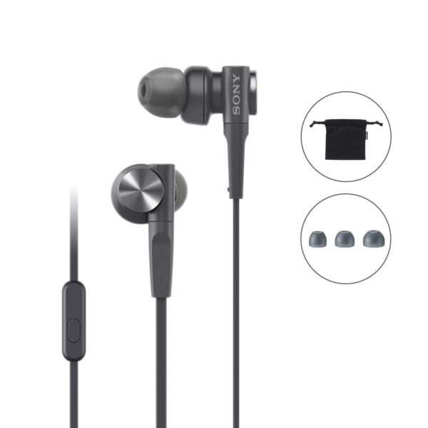 Sony MDR-XB55AP Extra Bass in-Ear Headphone with Mic (Black)-6408