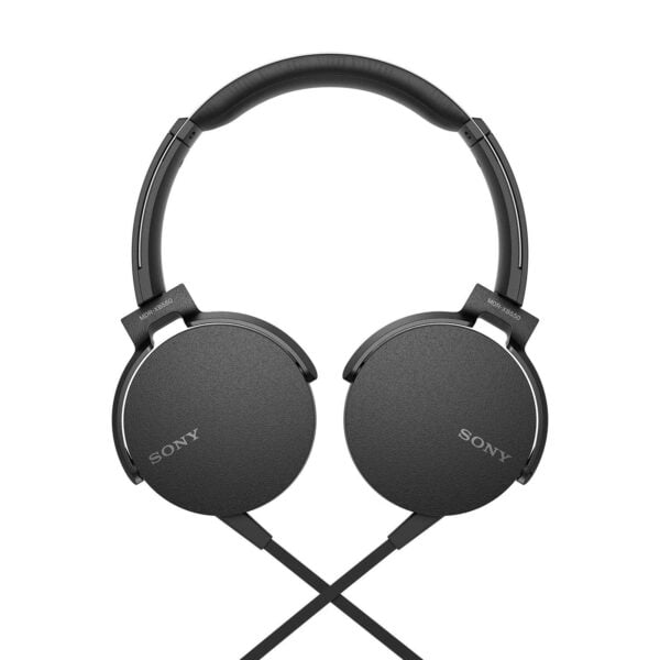 Sony Extra Bass MDR-XB550AP On-Ear Headphones with Mic (Black)-6616