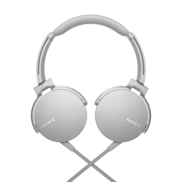 Sony Extra Bass MDR-XB550AP On-Ear Headphones with Mic (White)-6548