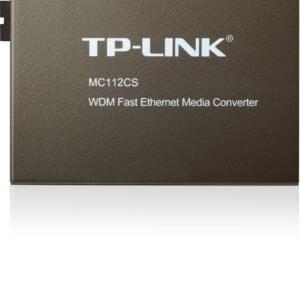 TP-Link TL-MC112CS Single-mode SC Fiber Converter (Black)-0