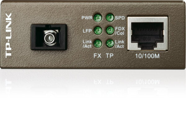 TP-Link TL-MC112CS Single-mode SC Fiber Converter (Black)-6309